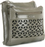 Peperone Women Grey Artificial Leather Sling Bag
