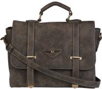 Lino Perros Women Casual Brown Leatherette Messenger Bag