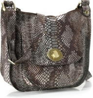 Phive Rivers Genuine Leather : Serpentine Desire_pr754 Medium Sling Bag - Lime Green