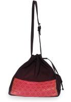 Allmine Mughal Drawstring Medium Sling Bag - Brown - 01