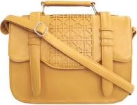 Toteteca Bag Works Women Tan Leatherette Sling Bag