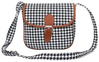 Lychee Bags Girls Black Canvas Sling Bag