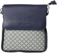 Alibao Women Casual Blue PU Sling Bag