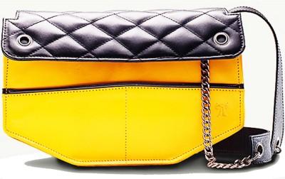 TWACH Frolic Medium Sling Bag - Yellow Black