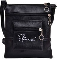 Hawai PU Leather Small Sling Bag - Black-01