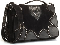 Phive Rivers Genuine Leather : Gianize_pr659 Medium Sling Bag - Black