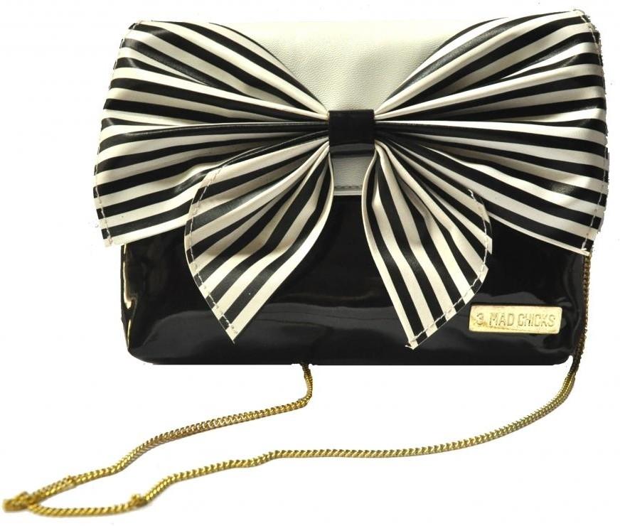 Buy 3 Mad Chicks Black And White Stylish Sling Small Sling Bag Black