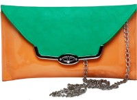 Tripssy Women Evening/Party, Casual Orange, Green Leatherette Sling Bag