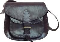 Shiny Collection Girls, Women Black Genuine Leather Sling Bag