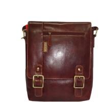 Kan Men, Women Brown Genuine Leather Sling Bag
