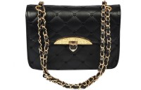 BH Wholesale Market Women Casual Black Leatherette Sling Bag