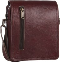 Alessia74 Women Casual Maroon Genuine Leather Sling Bag