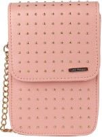Lino Perros Women Pink Leatherette Sling Bag - SLBEDCTTNYCMZTCS