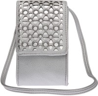 Haute Curry By Shoppers Stop Women Casual Silver Leatherette Sling Bag