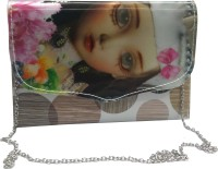 NEHASTORE Women Grey Silk Sling Bag