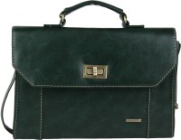 Lino Perros Women Casual Green Leatherette Messenger Bag