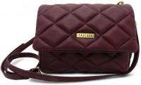 Cascara Women Casual Maroon Genuine Leather Sling Bag