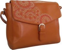 Toteteca Bag Works Women Tan PU Sling Bag