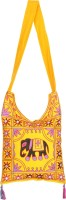 Rajrang Women Casual Yellow Cotton Sling Bag - SLBE9TV9FA76GUSR