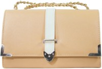 Heels & Handles Women Casual, Formal Beige PU Sling Bag