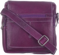 Bluwhale Men, Women Casual, Formal, Evening/Party Purple Genuine Leather Sling Bag