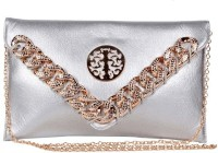 Trendberry Women Silver PU Sling Bag