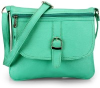 Frosty Fashion Women Casual Green PU, Leatherette Sling Bag