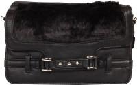 Kiara Women Casual Black Leatherette Sling Bag