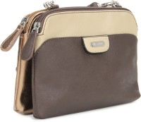 Lavie Women Beige, Gold, Brown Sling Bag