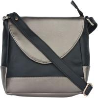 Ellis Women Casual Black, Grey PU Sling Bag