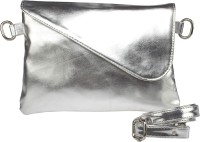 Feliza Girls, Women Evening/Party Silver Leatherette Sling Bag