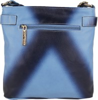 Lino Perros Women Casual Blue Leatherette Sling Bag