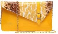 Surmount Girls, Women Casual, Formal, Evening/Party, Festive Yellow PU Sling Bag