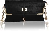 Esbeda Girls Evening/Party Black PU Sling Bag