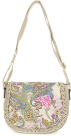 iva Girls, Women Casual, Evening/Party, Festive, Formal Beige Rexine Sling Bag