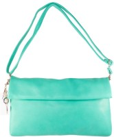 Heels & Handles Women Casual Green Leatherette Sling Bag