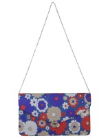 Glam Floral Small Sling Bag (Blue-1)