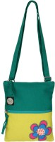 Anekaant Girls, Women Casual Green Canvas Sling Bag