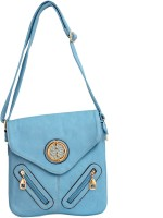 Parv Collections Women, Girls Casual Blue Leatherette Sling Bag