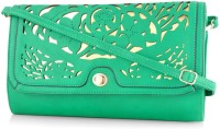 Daphne Women Casual Green PU Sling Bag