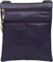 Rambler Girls, Women Casual Purple Genuine Leather Sling Bag