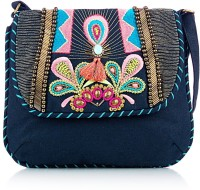 Shaun Design Tassel Embroidered Cross Body Small Sling Bag - SLBDX5HKMXPF6XNH