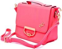 E2O Women Casual Pink Leatherette Sling Bag