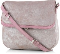 Neon By Paint Women Casual Pink Genuine Leather Sling Bag