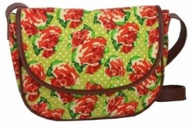 Carry On Bags European Floral Small Sling Bag - Brown