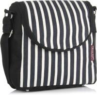 Home Heart Women Casual Black, White Canvas Sling Bag
