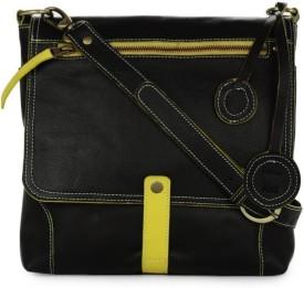 Fume Black Yellow 12 Medium Sling Bag - Black