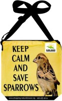 Nature Forever Boys, Girls Casual Black, Yellow Cotton, Polyester Sling Bag