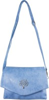 Heels & Handles Women Blue Leatherette, PU Sling Bag
