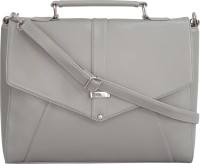 Toteteca Bag Works Women Grey Leatherette Sling Bag